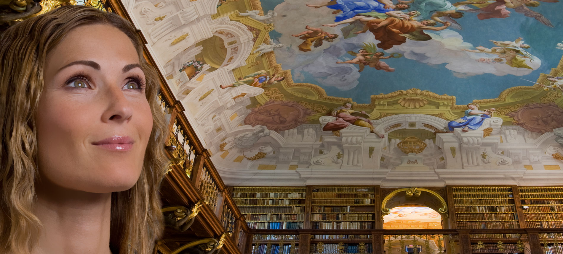 Library in the Melk Abbey